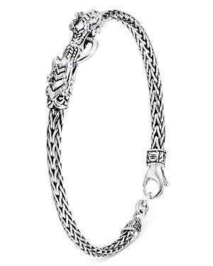 John Hardy Sterling Silver Legends Naga Blue Sapphire Dragon Link Bracelet