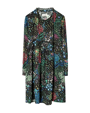 Zadig & Voltaire Girls' Karo Printed Dress - Little Kid, Big Kid