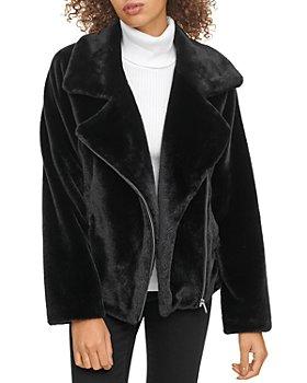 DKNY - Faux Fur Moto Jacket