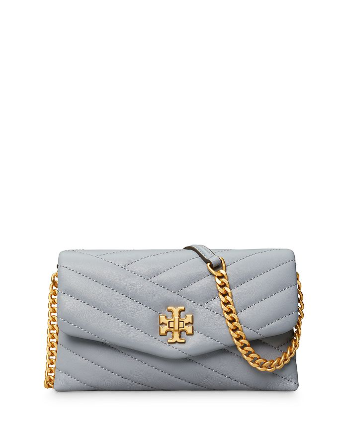 Tory Burch - Kira Chevron Quilted Leather Chain Wallet