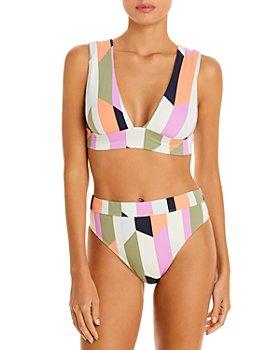 Billabong - Slow Roller Striped Bikini Top & Bottom