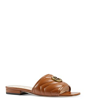 Gucci - Women's Jolie Matelassé Double G Slide Sandals