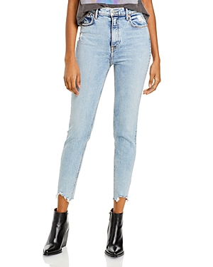 Kendall Frayed Ankle Skinny Jeans in Lift Me Up