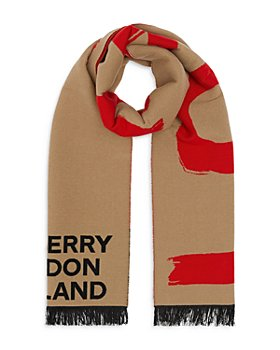 Burberry - Love and Logo Wool Silk Jacquard Scarf
