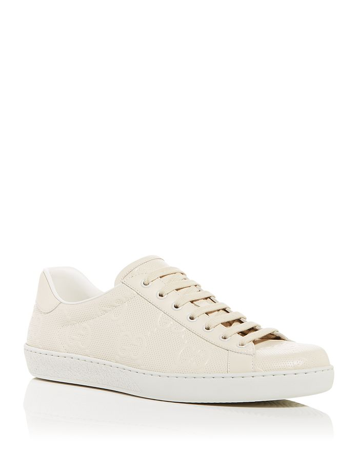 Gucci - Men's Ace GG Embossed Low Top Sneakers