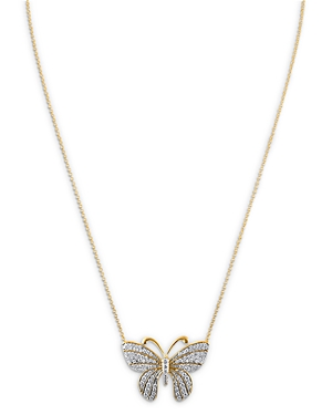 Bloomingdale's Diamond Butterfly Pendant Necklace in 14K Yellow Gold, 0.65 ct. t.w. - 100% Exclusive