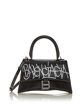 Balenciaga - Hourglass Graffiti Small Leather Top Handle Bag