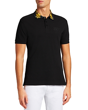 Versace Jeans Couture Baroque Collar Slim Fit Polo Shirt-Men