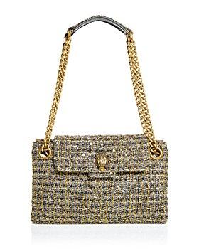 KURT GEIGER LONDON - Kensington Metallic Quilted Tweed Shoulder Bag