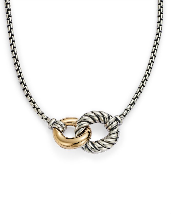 David Yurman Belmont Double Curb Link Necklace with 18K Gold    Bloomingdale's