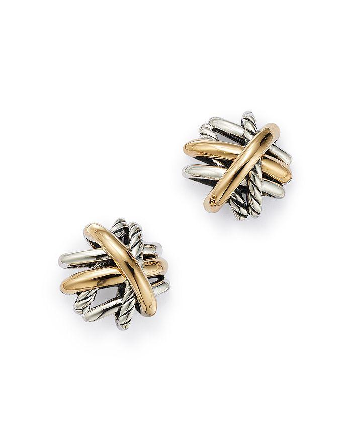 David Yurman - Crossover® Stud Earrings with 18K Yellow Gold
