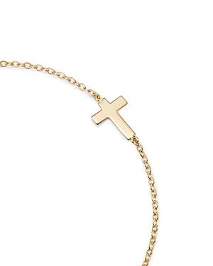 14K Yellow Gold Small Cross Bracelet