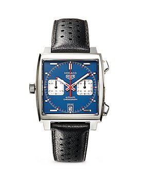 TAG Heuer - Monaco Calibre 11 Automatic Men's Blue Leather Chronograph, 39mm