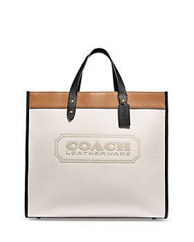 COACH - Field Medium Color Blocked Leather Tote