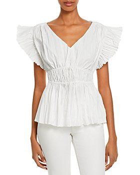 Rebecca Taylor - Pleated Sleeve Top