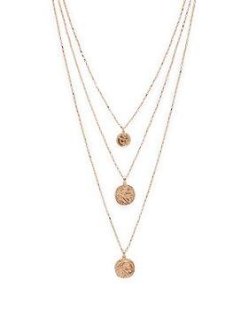 "AQUA - Three-Layer Coin Pendant Necklace, 24"" - 100% Exclusive"
