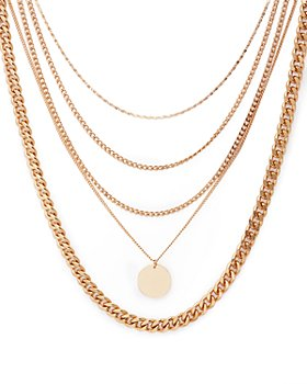 "AQUA - Five-Layer Pendant Necklace, 17"" - 100% Exclusive"