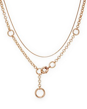 """AQUA - Two-Layer Toggle Chain Necklace, 19"""" - 100% Exclusive"""