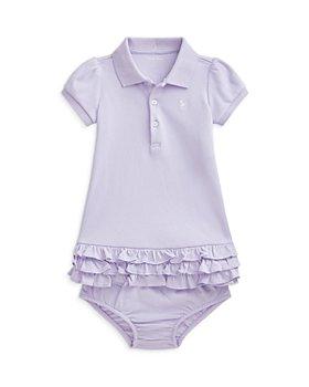 Ralph Lauren - Girls' Solid Ruffled Hem Dress - Baby