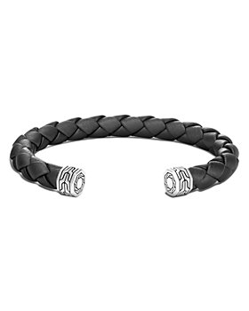 JOHN HARDY - Sterling Silver and Leather Classic Chain Cuff Bracelet