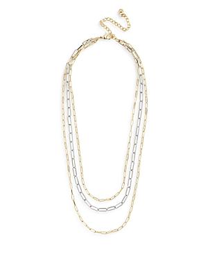 Baublebar Hera Two Tone Nested Rectangular Link Necklace, 18