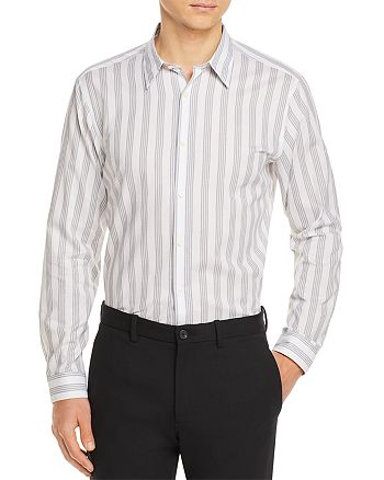 Theory - Tait Flanella Bar Stripe Regular Fit Shirt