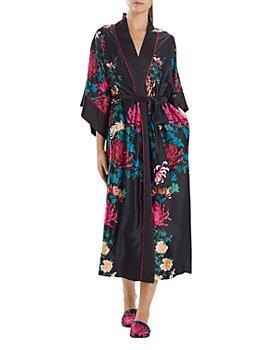 Natori - Lotus Flower Satin Long Robe