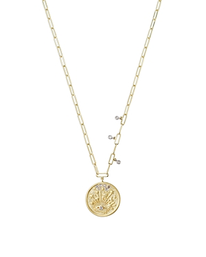 Meira T 14K Yellow Gold Diamond Eye Disc Pendant Necklace, 18-Jewelry & Accessories