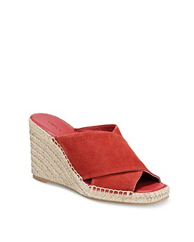 Vince - Women's Gaelan Square Toe Crisscross Espadrille Wedge Sandals