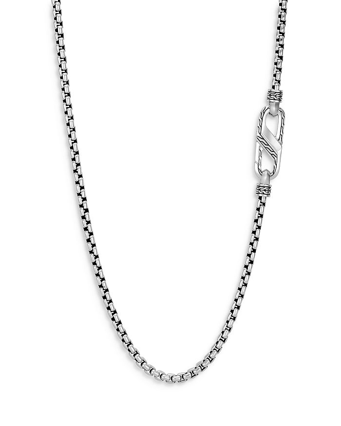 """JOHN HARDY - Sterling Silver Classic Chain Medium Carabiner Box Chain Necklace, 24"""""""