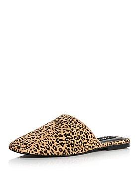 AQUA - Women's Bae Leopard Print Calf Hair Mules  - 100% Exclusive
