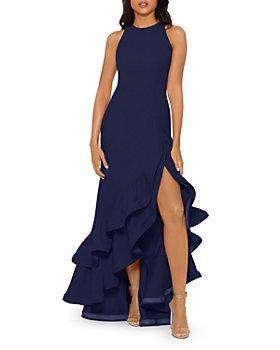 AQUA - Ruffled Scuba Gown - 100% Exclusive