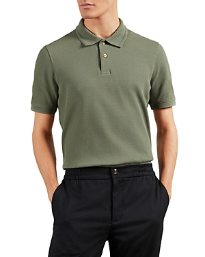 Ted Baker COTTON BLEND WAFFLE TEXTURED POLO