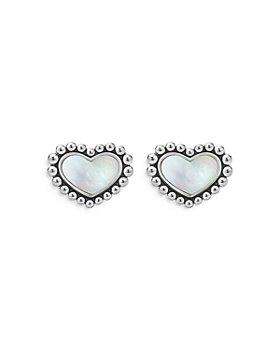LAGOS - Sterling Silver Maya Mother of Pearl Inlay Stud Earrings