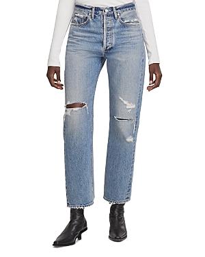 Agolde 90's High Rise Straight Leg Jeans in Streamline