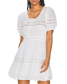 LoveShackFancy - Britta Tie Neck Dress