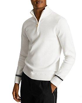 REISS - Silas Half Zip Funnel Neck Sweater