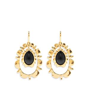 Capucine de Wulf Bliss Black Onyx Ruffle Drop Earrings