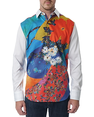 Robert Graham Floral Print Limited Edition Classic Fit Long Sleeve Shirt