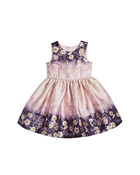 Pippa & Julie - Girls' Girls' Double-Border Floral Dress - Little Kid