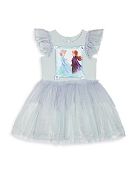 Pippa & Julie - Girls' Anna & Elsa Sparkle Dress - Little Kid, Big Kid