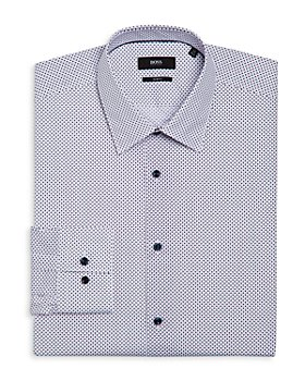 BOSS - Jano Slim Fit Micro Dot Dress Shirt