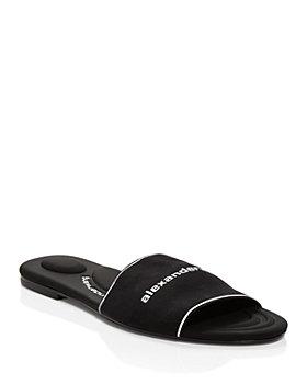 Alexander Wang - Women's Kyra Logo Stretch Slide Sandals