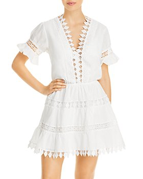 Peixoto - Ora Cotton Embroidered Cover Up Dress