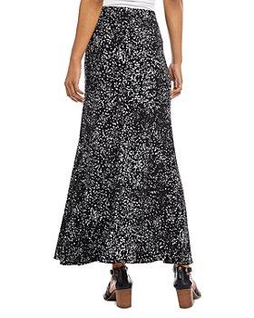 Karen Kane - Flared Dot Print Maxi Skirt