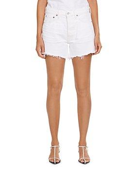 AGOLDE - Parker Long Jean Shorts in Panna Cotta