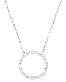 Bloomingdale's - Diamond Circle Pendant Necklace in 14K White Gold, 1.0 ct. t.w. - 100% Exclusive