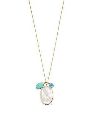 Ippolita 18K YELLOW GOLD ROCK CANDY LUCE 3-STONE PENDANT NECKLACE IN CASCATA, 30-32