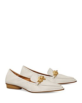 Tory Burch - Women's Jessa Pointed Toe Horse Head Buckle Leather Loafers