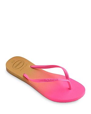 havaianas Women's Slim Gradient Slip On Thong Flip Flop Sandals
